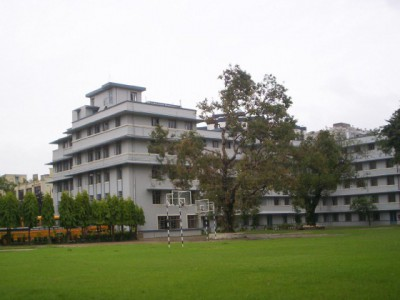 Modern High School Building