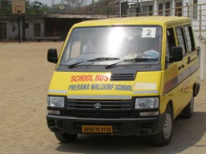 Prerana Waldorf School Hyderabad School Bus